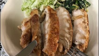 (ダイエットレシピ)超簡単ノンオイル鶏胸の唐揚げ