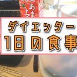 【ダイエット】ダイエッターの1日の食事〜食べすぎた次の日〜【痩せる】